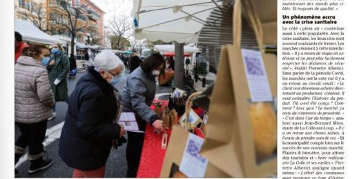 Marché solidaire : Nice Matin 21 février 2021
